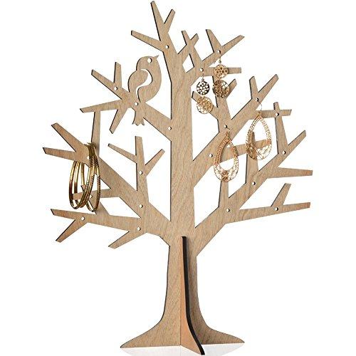 Schmuckhalter Baum aus Holz Porte-Bijoux Arbre Modèle Bois