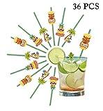 BigLion 36 Stück Trinken Cocktail Papier Strohhalme DIY Dekoration für Hawaii Deko Tropische Strand Luau Geburtstag Hochzeiten Pool Cocktail Party Supplies 20 cm