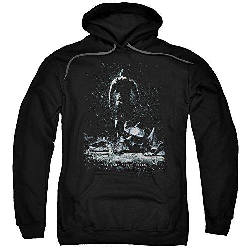Trevco Herren Dark Knight Rises Bane Poster Adult Hooded Sweatshirt Kapuzenpulli, Black, X-Groß (Dark Rises Bane Knight)