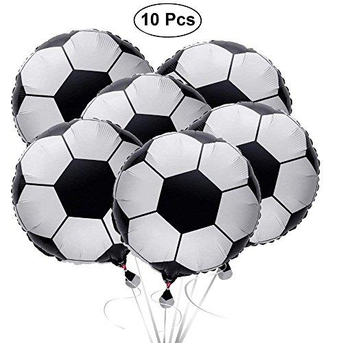 SAIYU Fußball Ballons Fußball Ballons Aluminiumfolie Ballon Mylar Ballons Für 2018 WM Party Oder Sport Thema Geburtstagsparty (10 STÜCKE, 18 Zoll)