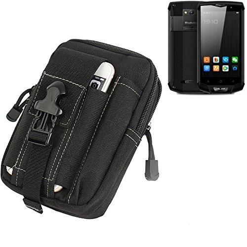 K-S-Trade für Gürtel Tasche Blackview BV8000 Pro Gürteltasche Schutzhülle Handy Hülle Smartphone Outdoor Handyhülle schwarz Zusatzfächer
