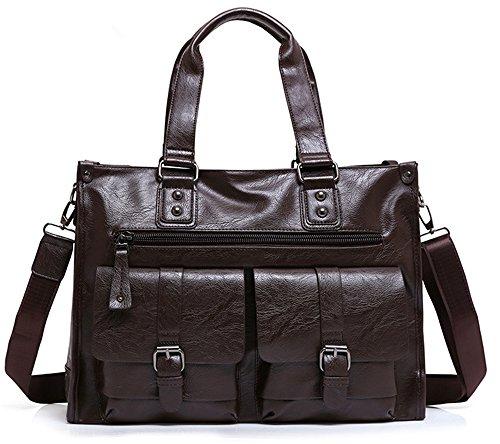 Xinmaoyuan uomini borsette borsette in cuoio Casual Men Bag Borsa Borsa retrò,Nero Brown