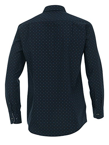 CASAMODA SPORTS Herren Freizeithemd 100% Baumwolle - auch große Größen Comfort Fit Marineblau