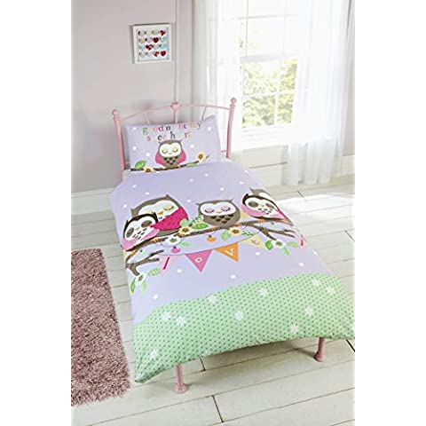 Children's 'Goodnight My Sweetheart' Duvet Cover Set (Junior) by Club Character - Pink Junior Set