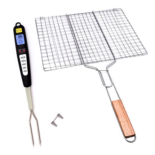 lantelme-6028-barbecue-grill-and-fork-thermometer-set