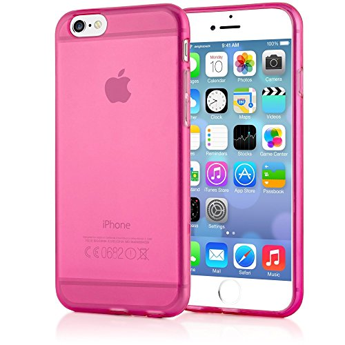 iPhone 6 6S Hülle Handyhülle von NICA, Ultra-Slim Silikon Case Crystal Schutzhülle Dünn Durchsichtig, Handy-Tasche Back-Cover Transparent Bumper für Apple iPhone 6S 6 - Pink Transparent