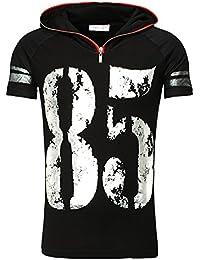 Young & Rich - Tee shirt mode homme T-shirt YR1487 noir - Noir