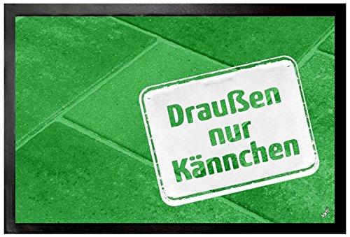 1art1 106190 Restaurants - Draußen Nur Kännchen Fußmatte Türmatte 60 x 40 cm