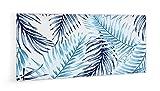 """Impression Murale® - Crédence de cuisine en Panneau composite aluminium""""Motif fougères bleues"""" avec fixation adhésive - L. 90 x H. 50 cm - Epaisseur 3 mm"""