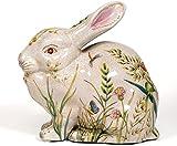 Unbekannt Wunderschöner Hase aus Porzellan antik Design Blumenwiese Dekofigur Figur