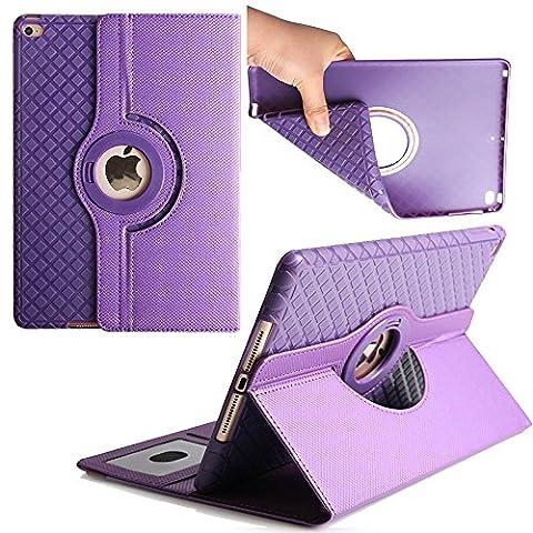 Case for iPad mini 4,Avril Tian magnétique rotatif à 360 ° support de fin avec emplacements pour cartes Smart écran de protection amovible Coque pour tablette Apple iPad mini 4 7.9 inch