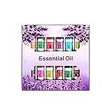 KOBWA - Juego de aceites esenciales para aromaterapia, 12 aceites de 5 ml, 100 % puro natural, aceites terapéuticos de grado natural, rosa, lavanda, lila, jazmín, sándalo, océano, violeta, gardenia, limón, osmanto, té verde, fresa