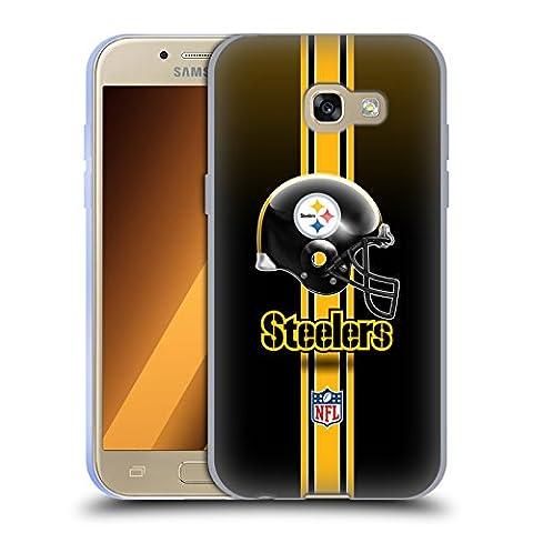 Offizielle NFL Helm Pittsburgh Steelers Logo Soft Gel Hülle für Samsung Galaxy A3 (2017)
