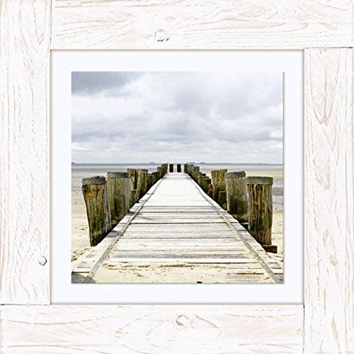 Imágenes Vintage de madera lienzo cuadro de madera en el mar Kara Artland marco: puente en vatios Tamaño: 50,4 x 50,4 cm tamaño en tienda dealer asi que largo!