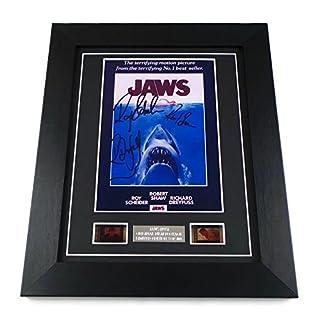 artcandi Jaws Signed + Jaws Film Cells Framed