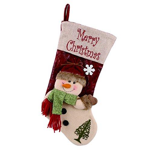 r Christmas Stockings 3D Cute Cartoon Snowman Stocking for Kids ()