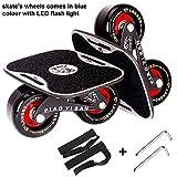SLYK Drift Skate with Aluminium Anti-Skid Plate Polyurethane 70x42 mm Wheels and ABEC