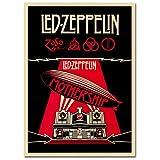 LaMAGLIERIA Hochqualitatives Poster - LED Zeppelin Mothership - Posterdruck glänzend laminiert im Großformat, 50cmx70cm