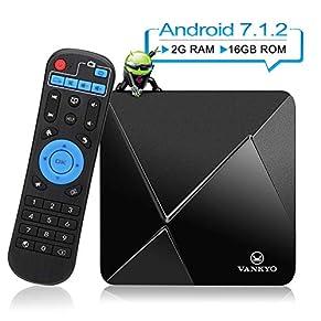 VANKYO TB80 4K Android 7.1 TV Box w/ 2GB RAM 16GB ROM Amlogic S905W Quad Core Processor 64 Bits H.265/WIFI Unterstützen