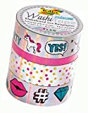 Folia 26426 - Hotfoil Washi Tape, 4er Set, irisierend silber
