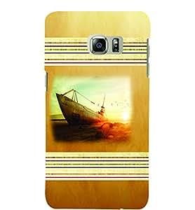 PrintVisa Travel Beach Boat 3D Hard Polycarbonate Designer Back Case Cover for SAMSUNG GALAXY NOTE 6