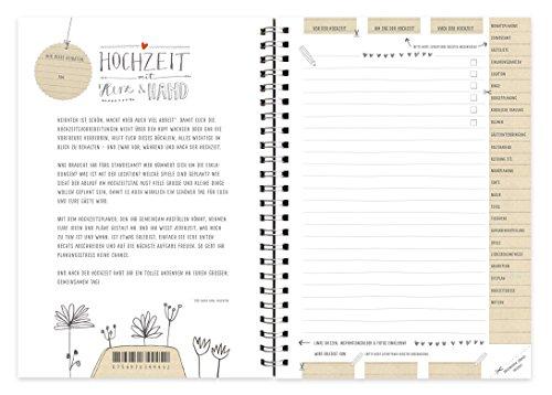 Hochzeitsnotizbuch im schönen Kalligrafie Design