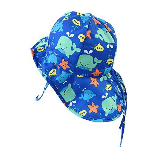 Domybest Cappello da Pescatore Bambino Estivo Stampa Balena Cappellino Estivo da Spiaggia Neonata in Cotone Anti UV Cappello da Sole Bambina