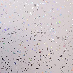 Ice White Diamond Sparkle cladding, Cladding Panels splashbacks Used in Kitchen, Office Ceiling and Walls, Perfect for Wet Walls in Shower, PVC Plastic 100% Waterproof 4 Panels