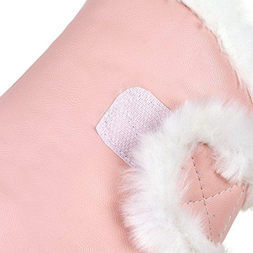 Corretta Donna Nascondere Coda Giù Potuto Rosa Voguezone009 Solido Colore Stivali In Fino Velcro qfT1xawRnq