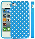 Apple iPhone 4/4S - iPhone 4G Polka Dot Series Blue TPU Gel Case Cover - White/Blue - Accessories4Life