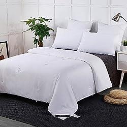 Lilysilk Seide Bettdecke 155x220cm Sommerdecke Steppdecke 100% Seide mit Baumwolle Hülle