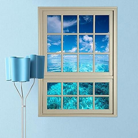 FEI&S ventanas paisaje perspectiva Wandsticker Wandbild Tapete en el contexto del Hotel dormitorio, sala de estar verde barniz creative 3D-simulación de Wandaufklebern inicio Fensteraufkleber