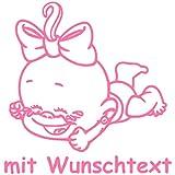 Windel Winni Babyaufkleber mit Name/Wunschtext - Motiv WW22 (16 cm)