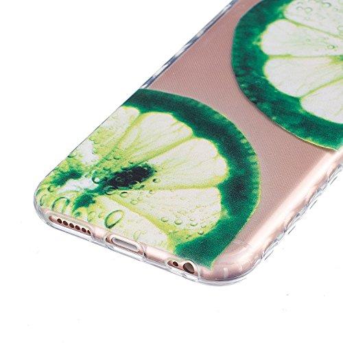 Custodia TPU per iPhone 6,per iPhone 6S Cover,ZCRO Trasparente Silicone Morbido Cristallo Chiaro Clear Gel TPU Sottile Slim Antiscivolo Caso Protettiva Bumper Gomma Case Cover per iPhone 6/6S 4.7 Poll Limone