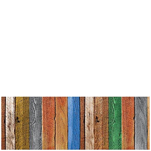 Laroom Alfombra, Vinylic Flooring PVC-Antislip, 140 cm, Multicolor