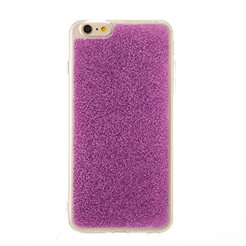 Handyhülle iPhone 6s Glitzer, LuckyW TPU Silicone Transparente Handyhülle für Apple iPhone 6 6s (4.7 zoll) 3D Bling Glitter Glitzer Shinny Sparkle Crystal Kristall Tasche Flexible Kratzer Stoßfest Scr Viola