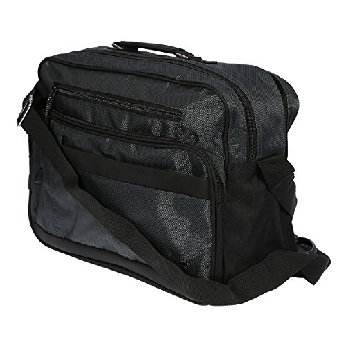 Christian Wippermann® Borsa da palestra Nero nero 36 x 27 x 18 cm grigio/antracite
