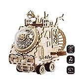 Robotime laser tagliato puzzle giocattoli-fai da te Space Vehicle Box Music per bambini e adulti-3D Jigsaw Model Craft Kits