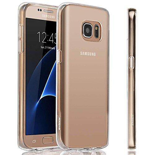 Cardana Hülle Silikon Case für Samsung Galaxy S7 - dünne durchsichtige transparente Schutzhülle TPU Cover klar in Transparent