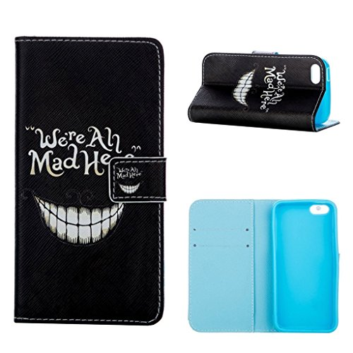 hyait® Case for Apple iPhone 5C Flip Leather Wallet With Card Holder and Kickstand Case Cover RX10 RX09