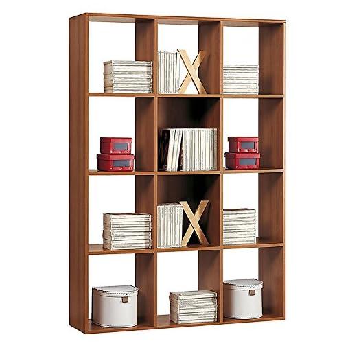 Libreria In Legno Noce.Valentini Eco Libreria 12 Vani A Giorno Legno Noce 30x110x175 Cm