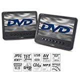 Caliber MPD278 7-Inch Portable DVD Player with Build-In Speakers and Headrest Strap