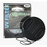 Maxsimafoto ®-Filtre UV 58 mm protecteur &Bouchon d'objectif 58 mm pour Canon 550D 600D 650D 700D 100D 1100D 1200D également avec 18–55 mm pour objectif de 18–55 mm STM.