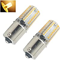 Bonlux LED Ba15s Bulb DC 12V 1156 LED light 3W Warm White 30000K SMD Single Contact Bayonet SBC Ba15s 1156 LED Replacement Car RV Trailer Camper Boat Yard Interior Light (2-Pack)