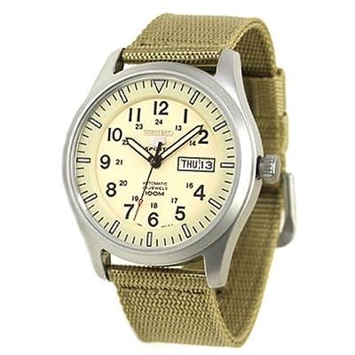 Seiko 5 Snzg09k1 Reloj Neo Sport AutomÁtico Correa Nylon Verde Para Hombre Nuevo Garantia 2 AÑos