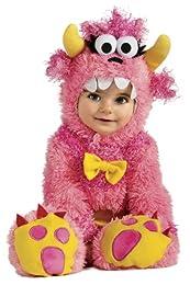 Disfraz de Monstruito o Monstruo Pinky Winky para bebé. Incluye mono y gorro. Presentación en bolsa de regalo. Coleccción del Arca de Noé.