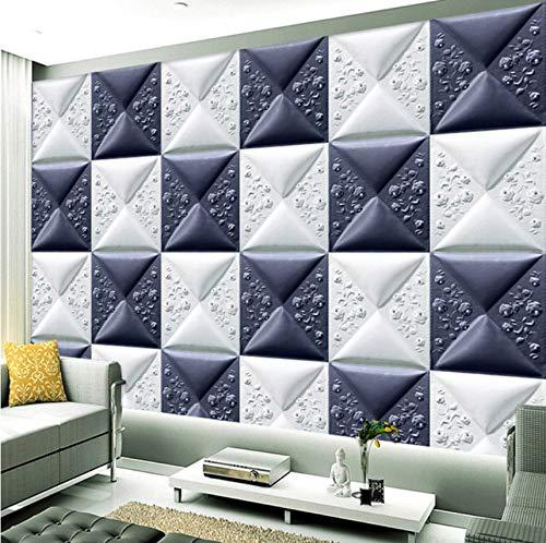 Lvabc Benutzerdefinierte Wallpaper Murals 3D Stereoskopischen Kunstleder Soft Pack Wandbild Wohnzimmer Tv Hintergrund Wall Papers Home Decor Modern-280X200Cm Strand Paper Pack