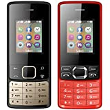 I KALL 1.8 Inch (4.57 Cm) Dual Sim Feature Phone Combo - K20 (Black) And K25 (Red)