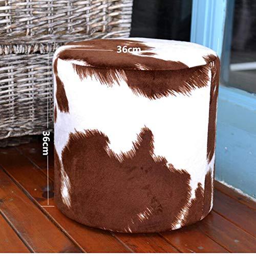 ZXPzZ Poggiapiedi Scarpa Panca personalità della Moda Motivo zebrato poggiapiedi in Legno massello in Vera Pelle Sgabello / 14,2x14,2 Pollici (Color : #1)