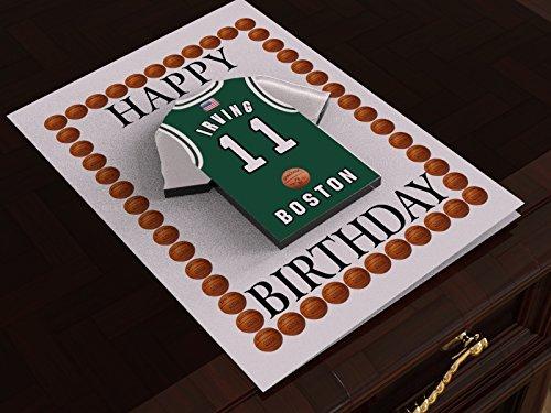 NBA Basketball Jersey Mottoparty Magnet Geburtstag Karten–Personalisierte Geburtstagskarte–Jeder Name, beliebige, jedes Team., Boston Celtics NBA Basketball Birthday Card (Basketball-usa-team-jersey)